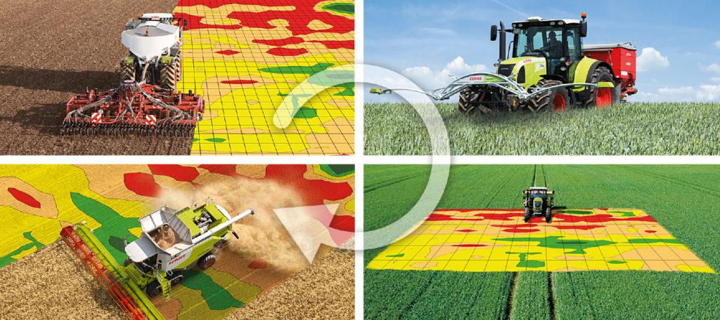 mapowanie pola, rolnictwo precyzyjne.maszyny rolnicze