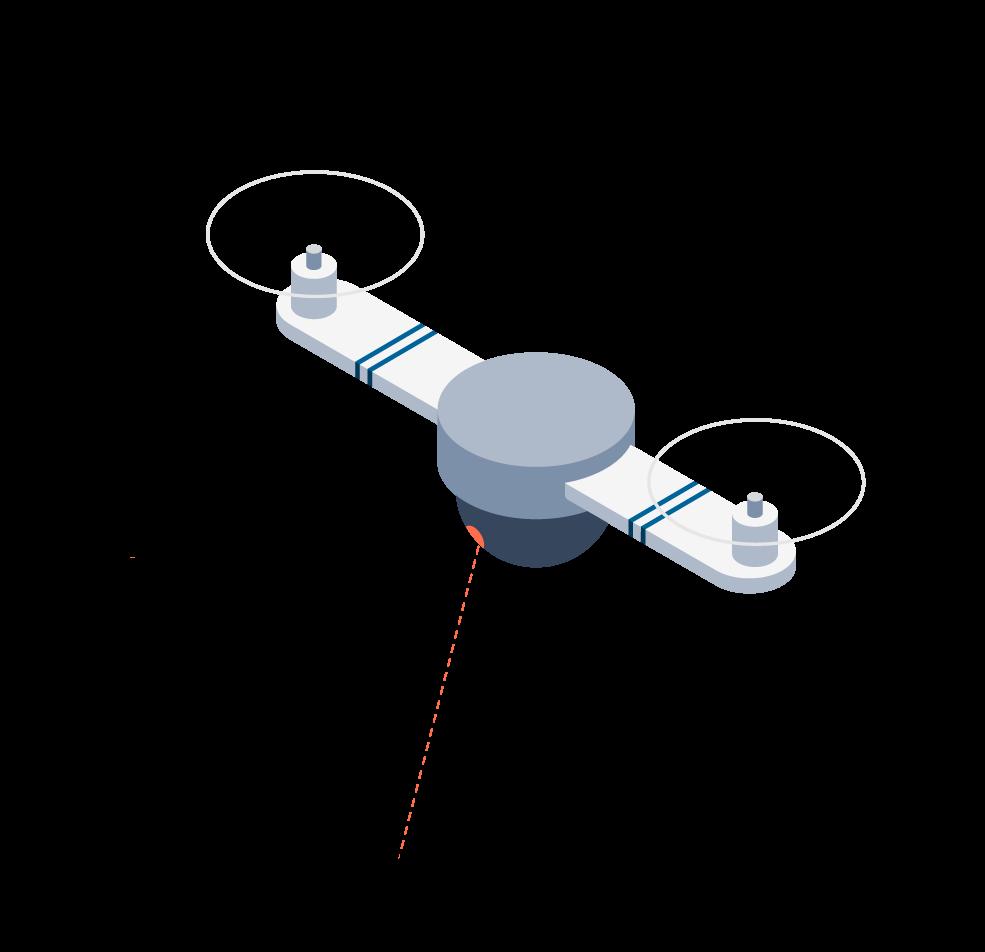 LIDAR, dron, grafika