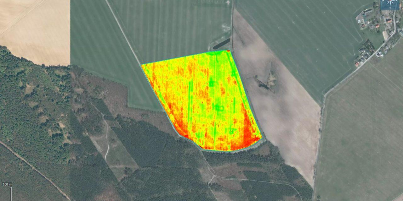 MCARI, mapowanie, skanowanie terenu, kamera multispektralna