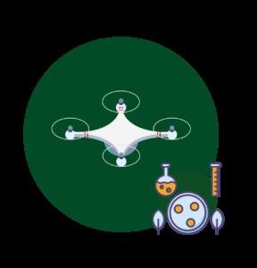badania, dron, grafika