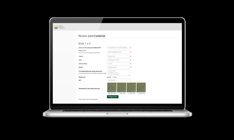 Online, zamówienie, pole, badania glebowe