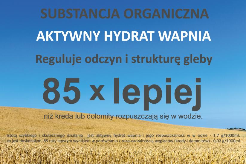 substancja organiczna, aktywny hydrat wapnia, re