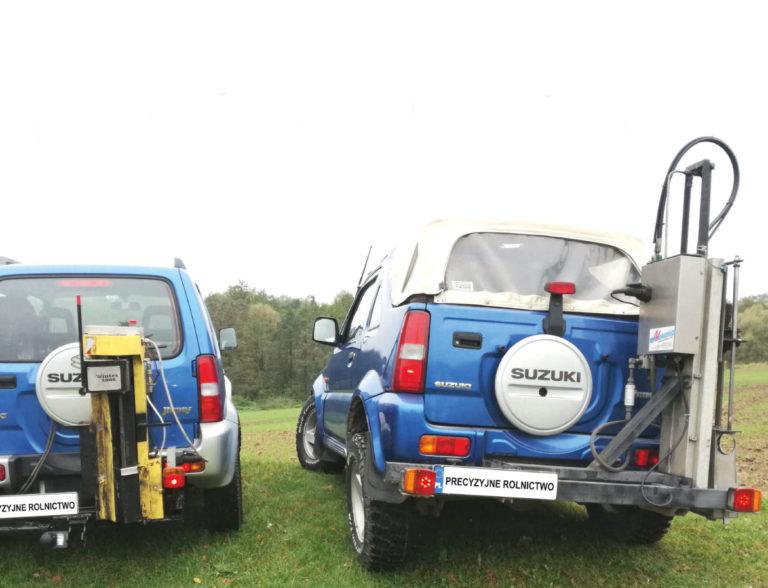 precyzyjne rolnictwo, samochody, wiertnica, konduktometr, auta terenowe